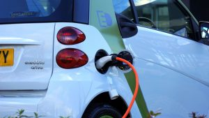 full ev Electric car on charge